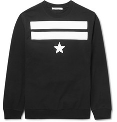 Givenchy Star and Stripe-Detailed Cotton Sweater