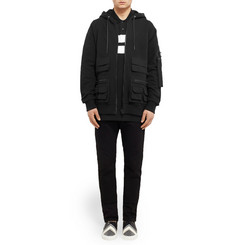 Givenchy Cargo Fleece-Backed Cotton-Jersey Hoodie