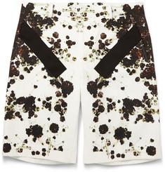 Givenchy Band-Trimmed Floral-Print Cotton Bermuda Shorts