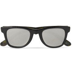 Jimmy Choo Carrera x  Croc-Print Square-Frame Ghost-Effect Sunglasses