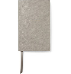 Smythson Duly Noted Cross-Grain Leather Panama Notebook