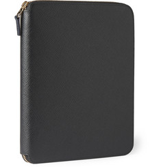 Smythson A5 Cross-Grain Leather Writing Folder