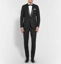 Paul Smith London Black Slim-Fit Wool-Blend Tuxedo Jacket