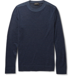 Paul Smith London Striped Merino Wool, Silk and Cashmere-Blend Sweater