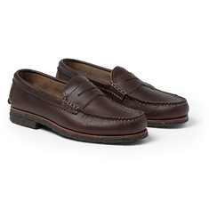 Quoddy Crepe-Sole Leather Penny Loafers