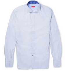 Isaia Gingham Cotton Shirt