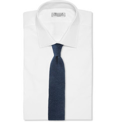 Isaia Knitted Silk and Linen Tie