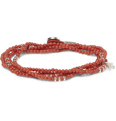 Isaia Coral and Silver Wrap-Around Bracelet