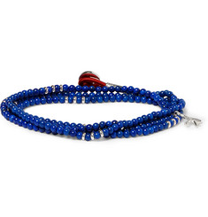 Isaia Silver and Lapis Wrap-Around Bracelet