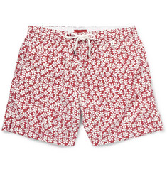 Isaia Floral-Print Mid-Length Swim Shorts