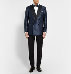 Brioni Blue Slim-Fit Silk-Jacquard Tuxedo Jacket