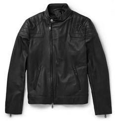 Brioni Leather Biker Jacket