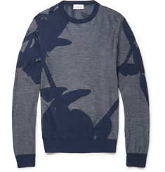 Brioni Cotton and Silk-Blend Jacquard-Knit Sweater