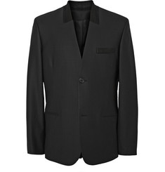 Public School Black Wool-Blend Suit Jacket