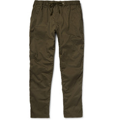 White Mountaineering Slim-Cotton and Linen-Blend Utility Trousers