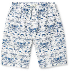 White Mountaineering Slim-Fit Printed Cotton Shorts