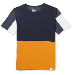 White Mountaineering Panelled Cotton T-Shirt