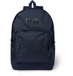 White Mountaineering Leather-Trimmed Canvas Backpack