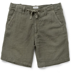Hartford Regular-Fit Linen Shorts