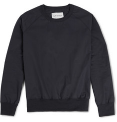 Our Legacy Jersey-Trimmed Cotton-Poplin Sweatshirt