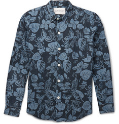 Our Legacy Floral-Print Hemp and Cotton-Blend Chambray Shirt