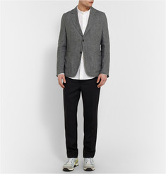 Our Legacy Grey Unstructured Linen Blazer