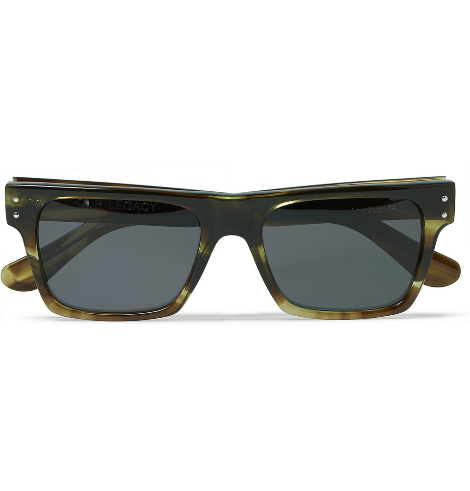 Faith D Frame Tortoiseshell Acetate Sunglasses Green