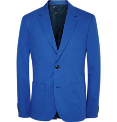 Marc by Marc Jacobs Blue Slim-Fit Cotton-Twill Suit Jacket