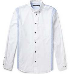 Marc by Marc Jacobs Contrast-Panelled Button-Down Collar Cotton Oxford Shirt