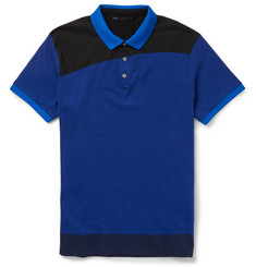 Marc by Marc Jacobs Panelled Cotton-Jersey Polo Shirt