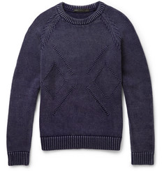 Marc by Marc Jacobs Knitted Cotton-Blend Sweater