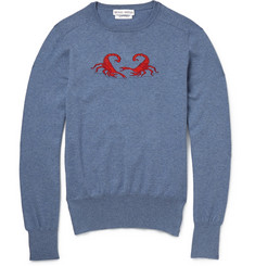 Michael Bastian Scorpion-Intarsia Knitted-Cotton Sweater