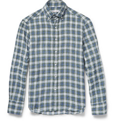 Michael Bastian Button-Down Collar Plaid Linen Shirt