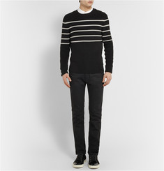 Exemplaire Striped Knitted-Cotton Sweater