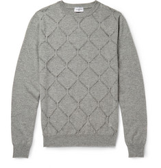 Exemplaire Patterned-Knit Cashmere Sweater