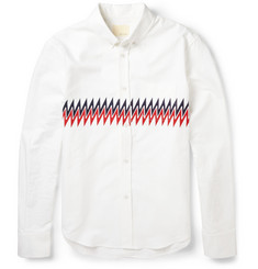 Band of Outsiders Zig-zag Printed Cotton Shirt