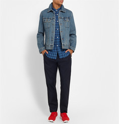 Band of Outsiders Button-Down Collar Check Linen Shirt