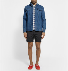 Band of Outsiders Touring Cotton-Twill Shorts