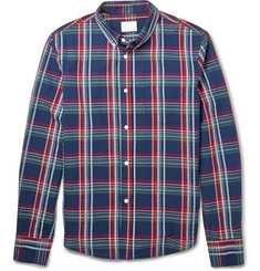 Band of Outsiders Madras-Check Seersucker Cotton Shirt