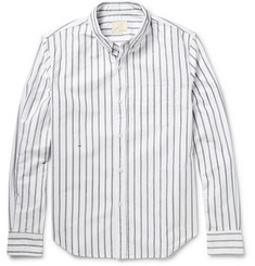 Band of Outsiders Sketched-Stripe Cotton Oxford Shirt