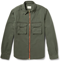 Band of Outsiders Zipped Cotton-Twill Overshirt