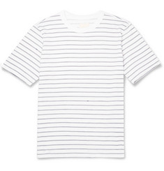 Band of Outsiders Hand-Drawn Stripe Cotton T-Shirt