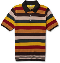 Loewe Striped Wool-Blend Polo Shirt