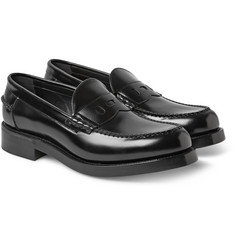 Loewe Polished-Leather Penny Loafers
