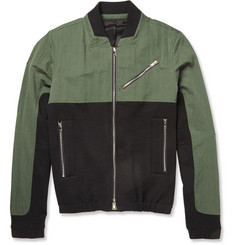 Tim Coppens Panelled Cotton-Blend Bomber Jacket