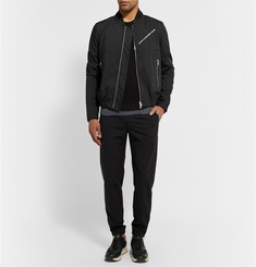 Tim Coppens Leather-Trimmed Lightweight Bomber Jacket