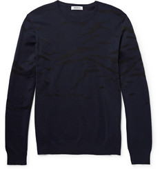 Tim Coppens Silk-Intarsia Wool Sweater