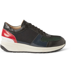 Tim Coppens + Common Projects Leather and Mesh Sneakers