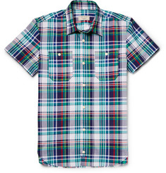 Maison Kitsuné Slim-Fit Checked Cotton Short-Sleeved Shirt