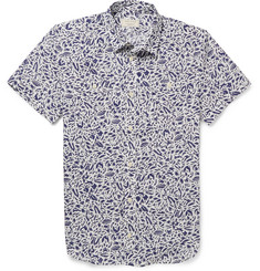 Maison Kitsuné Printed Cotton Short-Sleeved Shirt